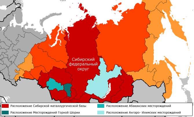 центры сибирской базы черной металлургии